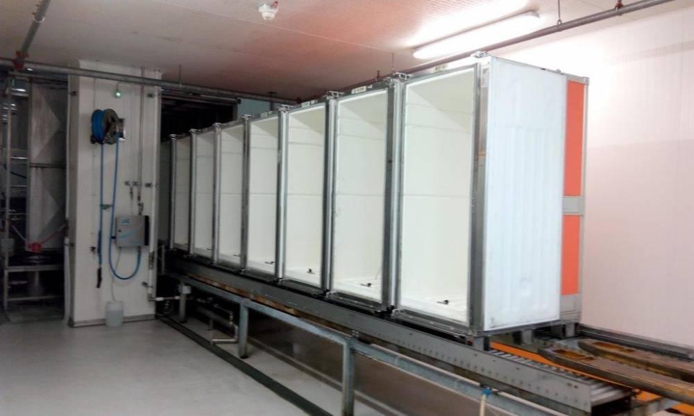 Lavatrice contenitori isotermici industria alimentare